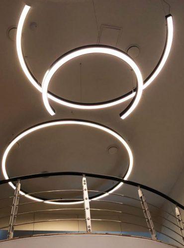 Композиция из светодиодных светильников