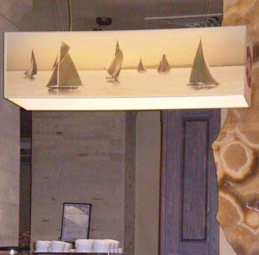 Светильник прямоугольный с печатью