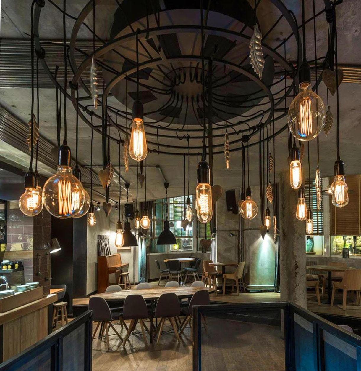 svetilnik dvuxyarusniy v stile loft